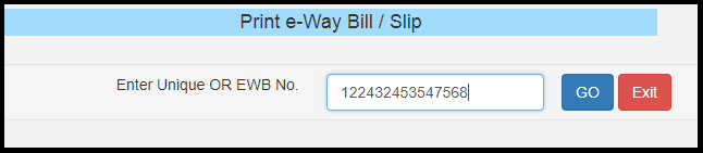 E-way bill generation 14
