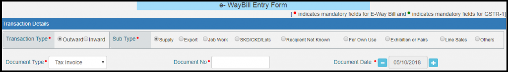 E-way bill generation 5