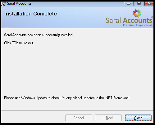 How to install Saral - Accounting and Billing Software 11