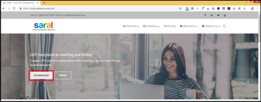 How to install Saral - Accounting and Billing Software 2