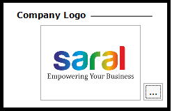 Logo settings for reports in Saral - logo settings