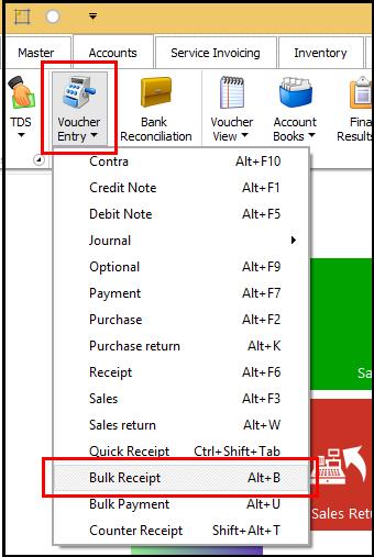 Bulk Receipt Creation in Saral - bulk receipt