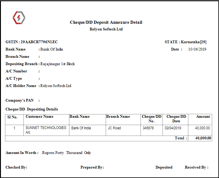 Bulk Receipt Creation in Saral - Accounting & Billing software