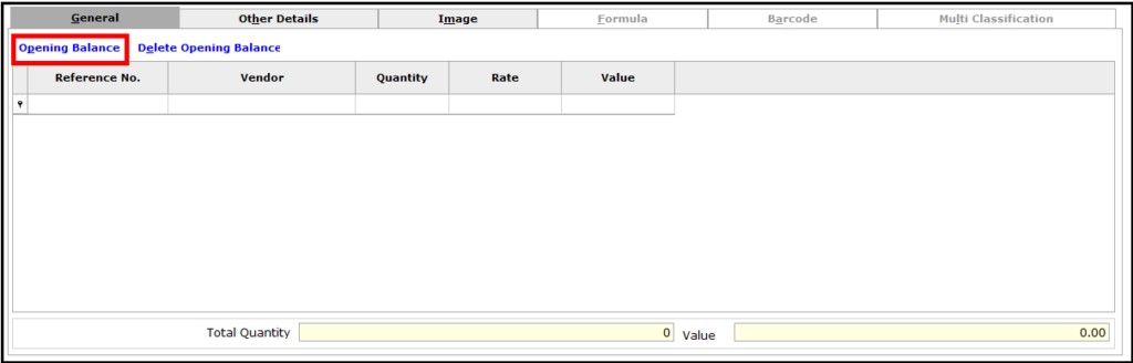 Item Master Creation in Saral software - general tab details