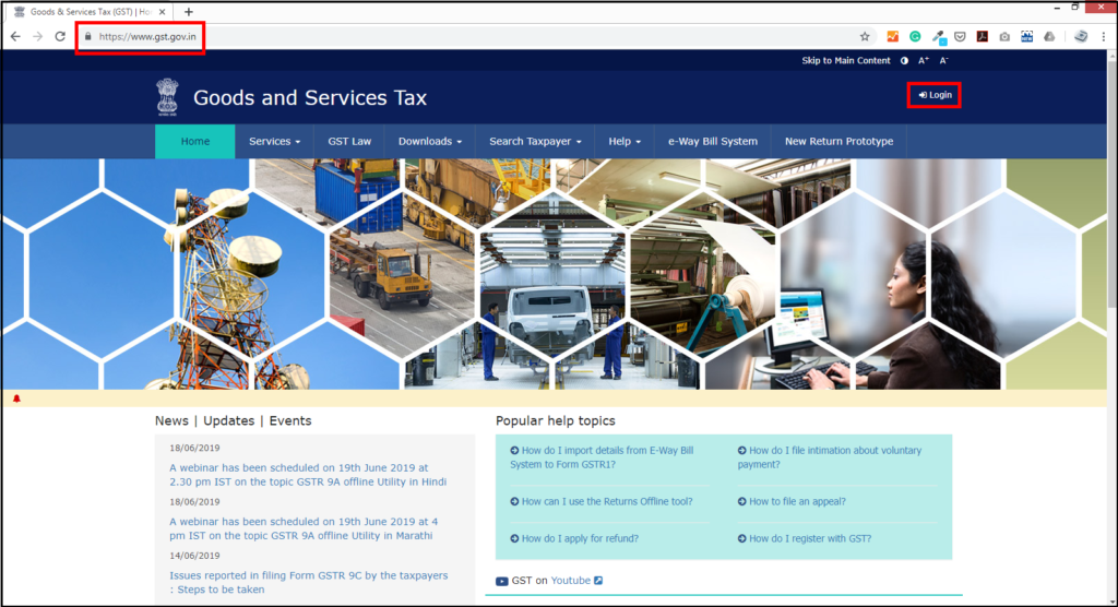 download free accounting software from GSTN- go to the GSTN website