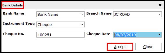 8. Bulk Payment voucher creation - Bank instrument