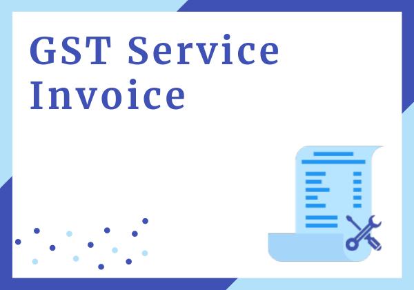 GST Service invoice