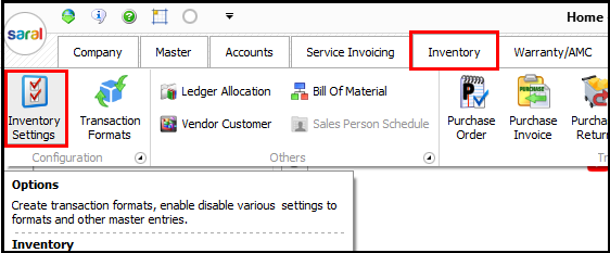 1.Bill of Material-Inventory module