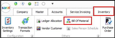 3.Bill of Material-BOM option
