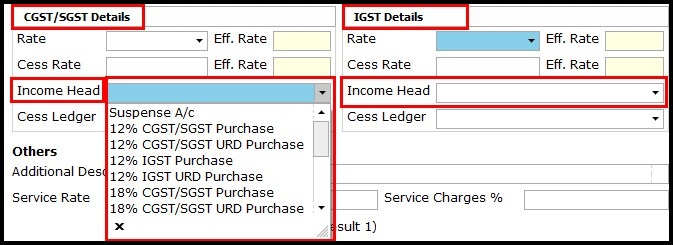 13.Service Invoicing in Saral-Income head