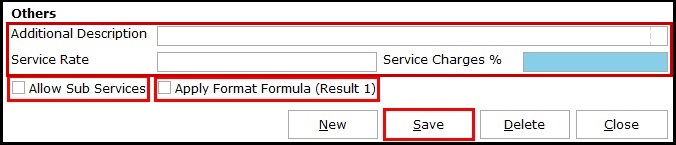 14.Service Invoicing in Saral-Format formula