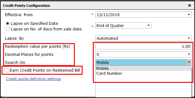 7.Loyalty Points in Saral-Redeemed bill