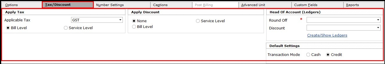 4.Service invoicing in Saral- cash or credit