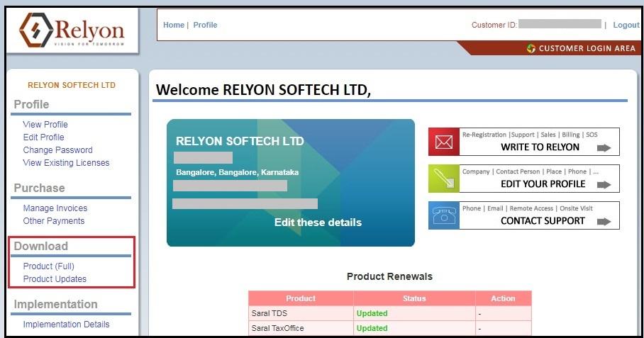 2.Saral software update-updates