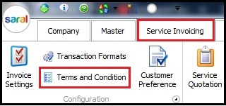 1.Service Invoicing in Saral-Terms and comditions.