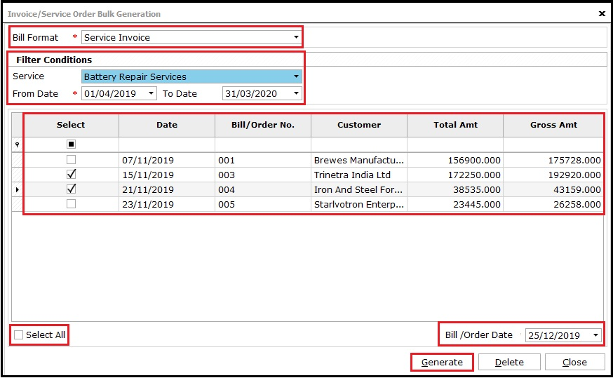14.Service Invoicing in Saral-keynote