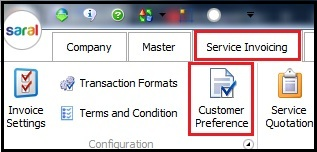3.Service Invoicing in Saral-Customer preference.