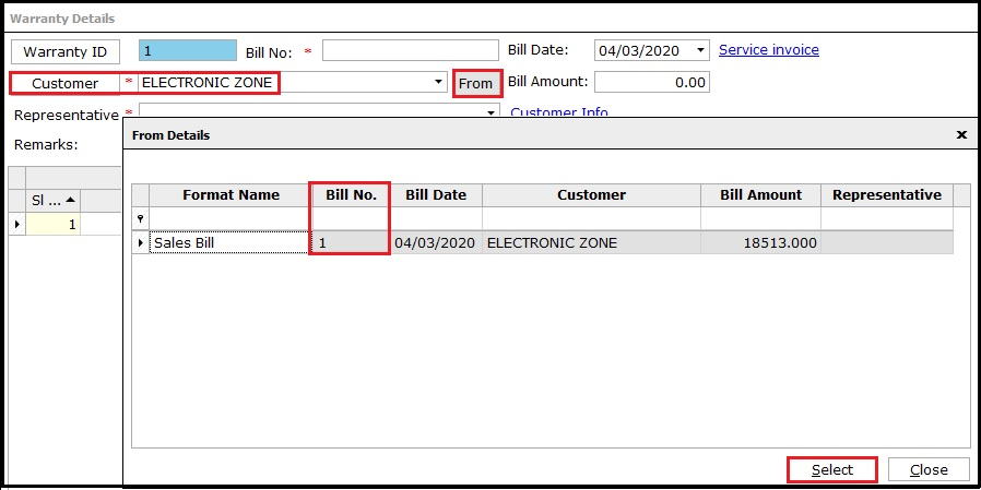 2.AMC and Warranty in Saral-From