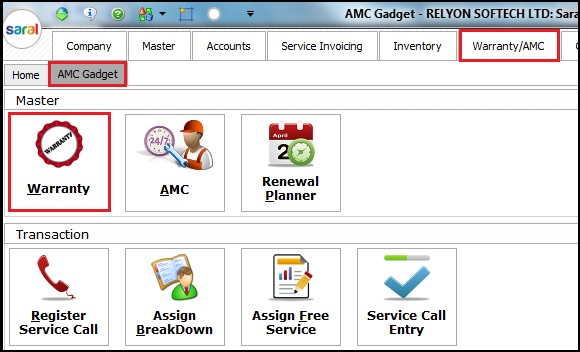 4.AMC and Warranty in Saral-Gadget