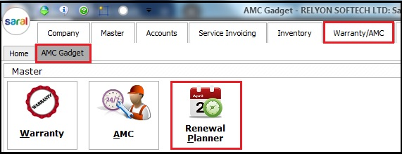 1.1. AMC and Warranty in Saral-Planner