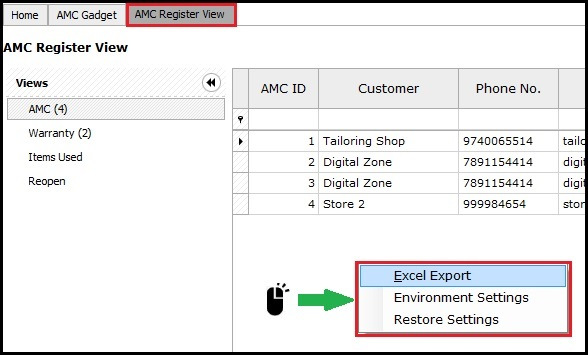 11.1. AMC and Warranty in Saral-Right