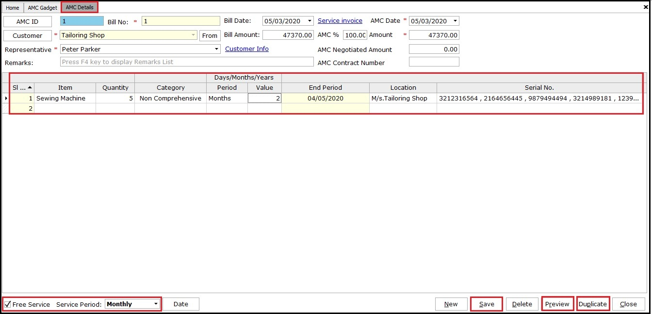 2.1. AMC and Warranty in Saral - From