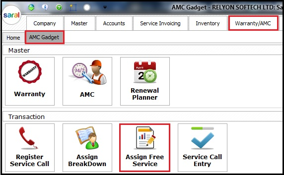 4.1. AMC and Warranty in Saral - Gadget
