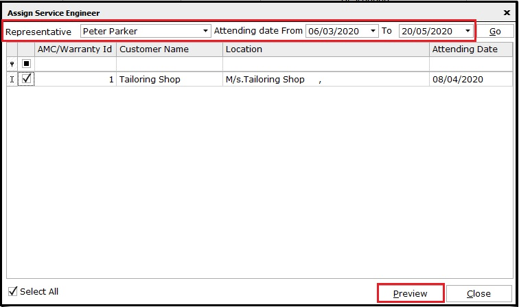6.1. AMC and Warranty in Saral - assign