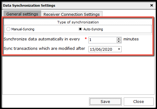 5.Data Synchronization Configuration-Minute