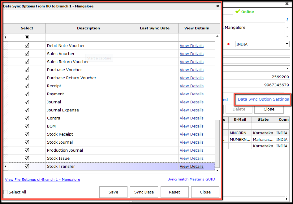 5.data synchronization-settings link