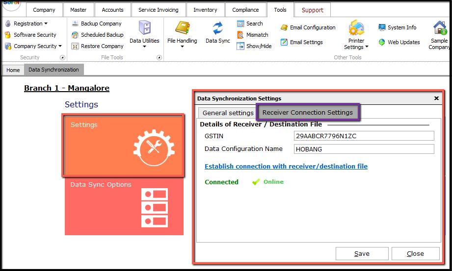 2. data synchronization-Settings to verify