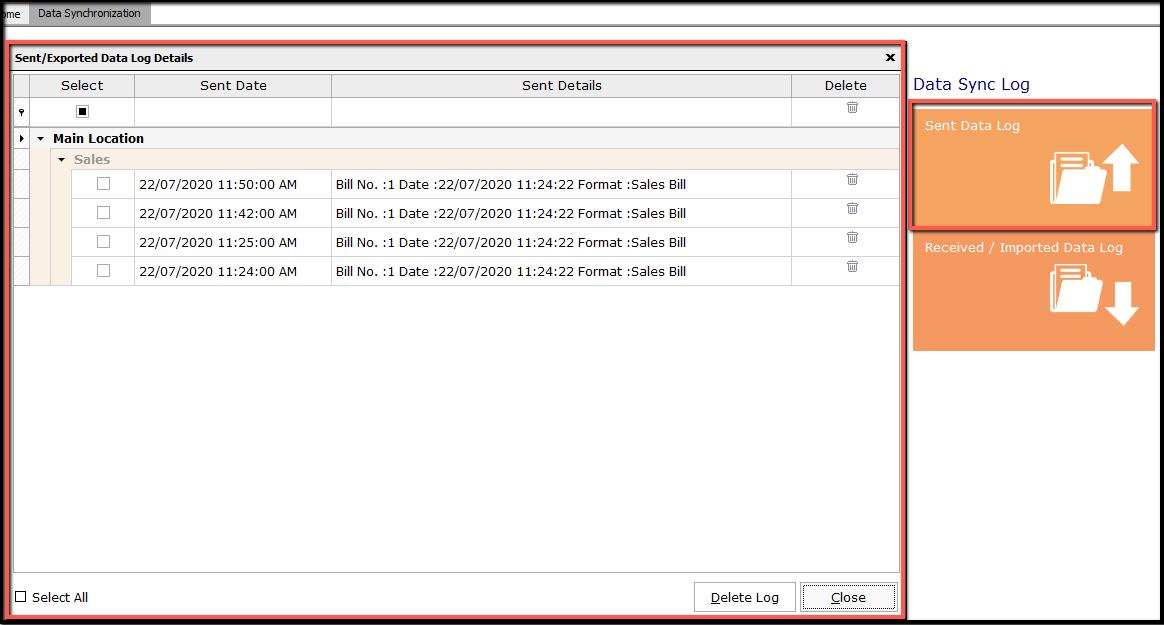 4. data synchronization-Sent data log