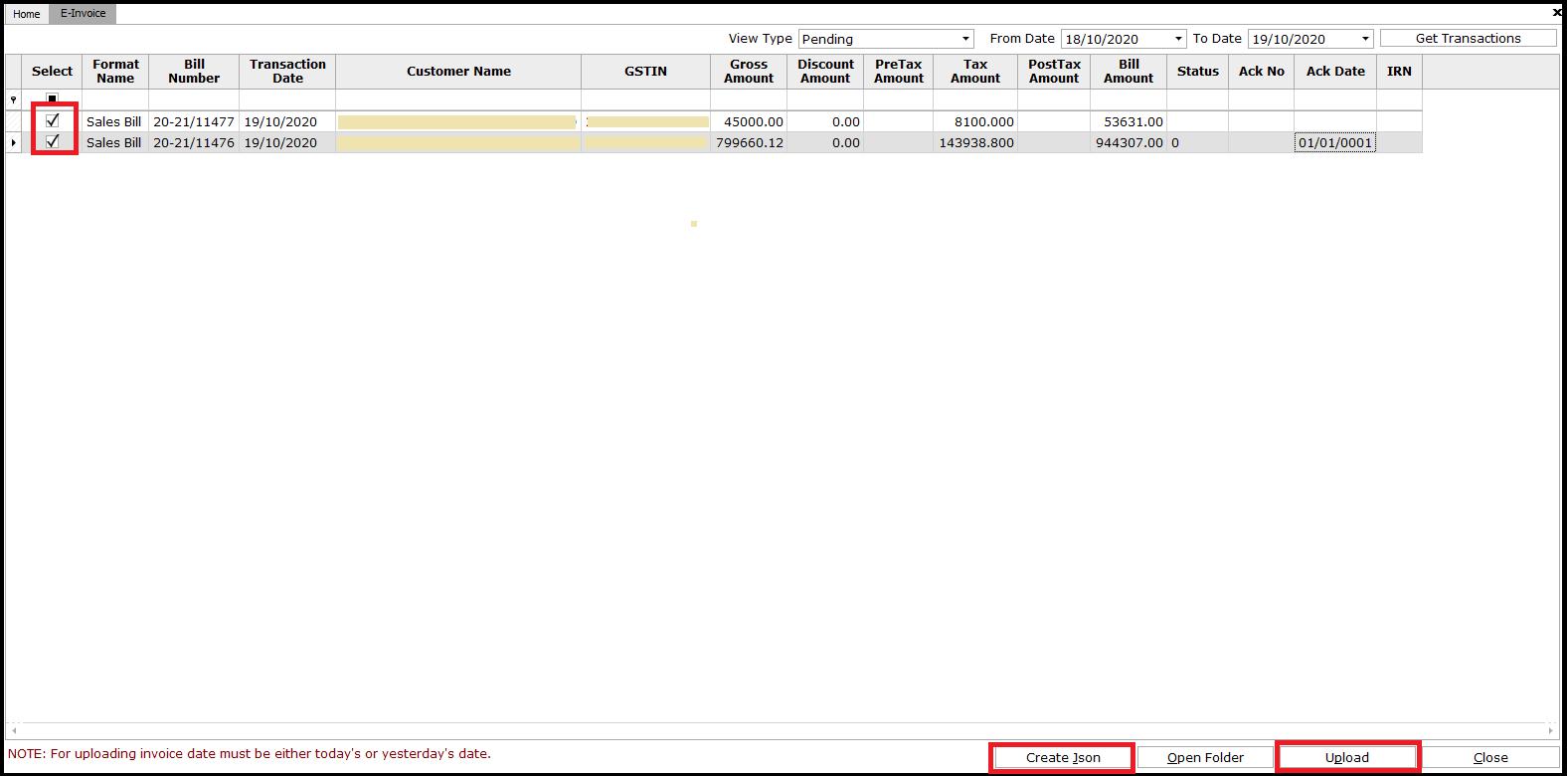 18. E-invoicing-create Json