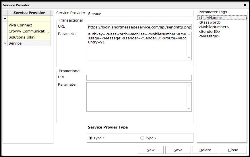 1. API configuration