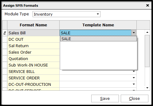 9.SMS configuration-create template