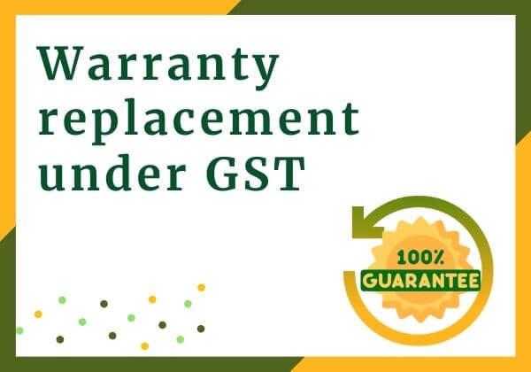 Warranty replacement under GST